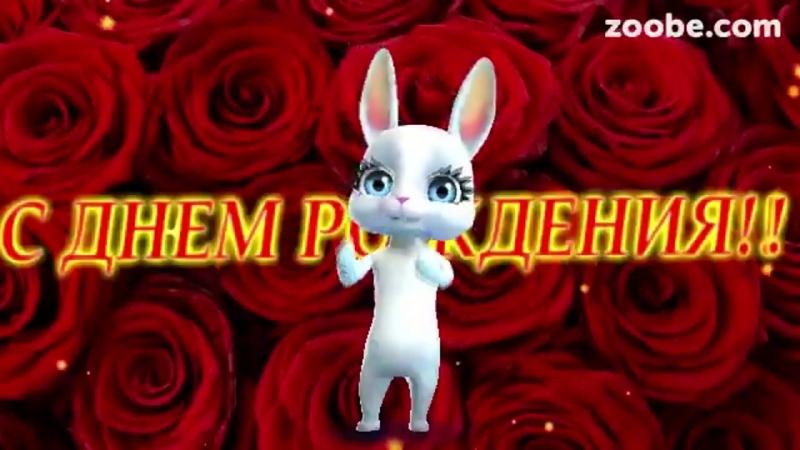 Zoobe Зайка, красивое поздравление в день рождения любимому!.mp4