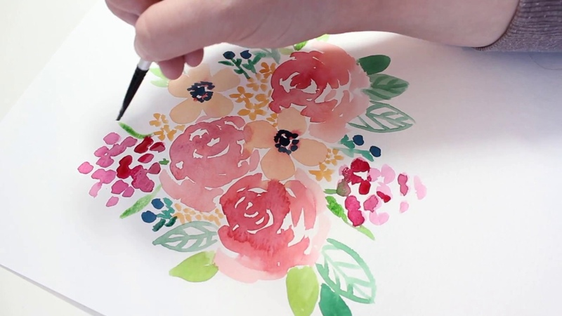 Loose Watercolor Floral