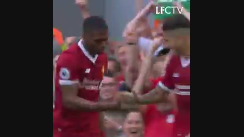 Firmino heads home 🤙 Mane's thunderbolt ⚡️ Salah's speed 🌪 Ice cool Sturridge ❄ ⏪ Scenes against @Arsenal last season...