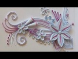 Quilling Made Easy # How to make Beautiful Design Flower using Quilling Art  -Paper Quilling Art