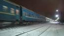 Электровоз ЧС7 276 с поездом№005Я Москва Киев станция Нара 21 12 2018