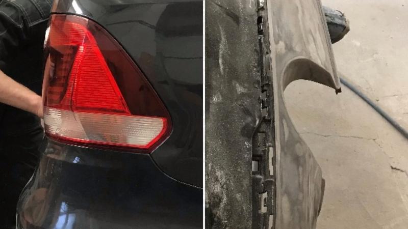 VW POLO восстановлен геометрии проёма багажника