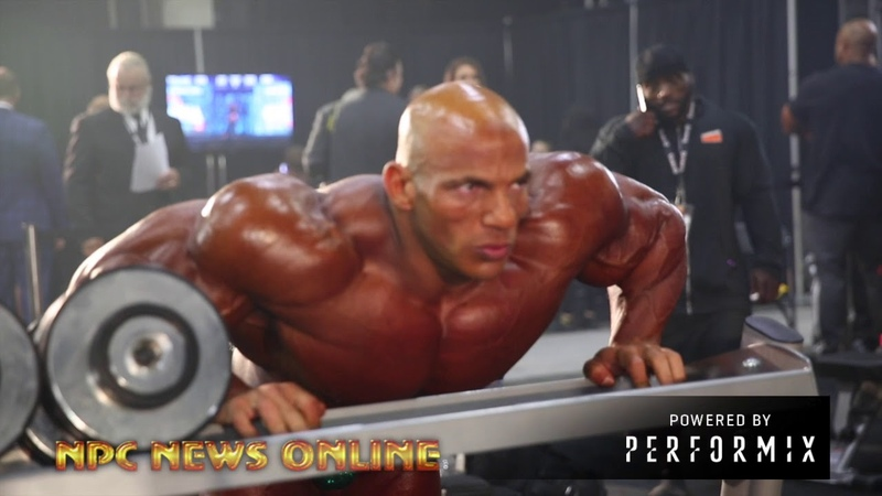 World's Biggest Bodybuilder Big Ramy Backstage At The 2018 Olympia
