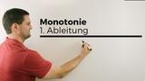 Monotonie, Monotonieverhalten mit 1. Ableitung, Mathehilfe online Mathe by Daniel Jung