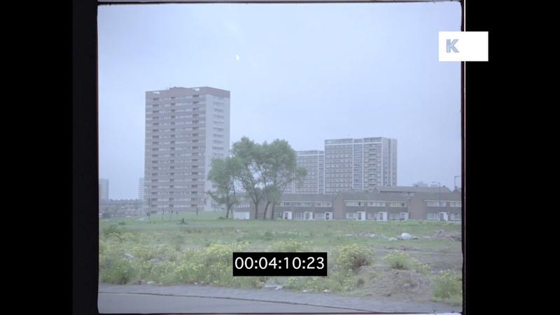 1970s Industrial Estate, Poor Areas, UK in HD