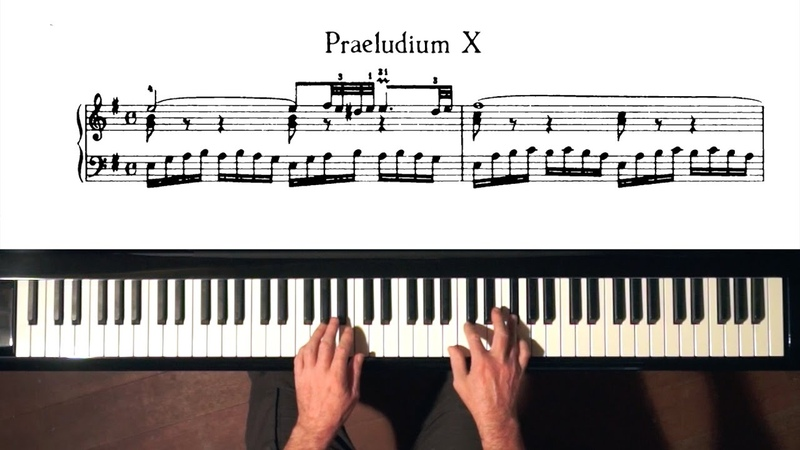 Bach Prelude and Fugue No.10 (staccato) Well Tempered Clavier, Book 1 with Harmonic Pedal