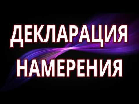 8. Вадим Зеланд - Декларация намерения.