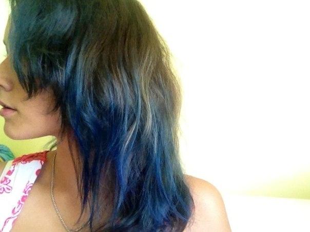 Синие волосы в домашних условиях 865