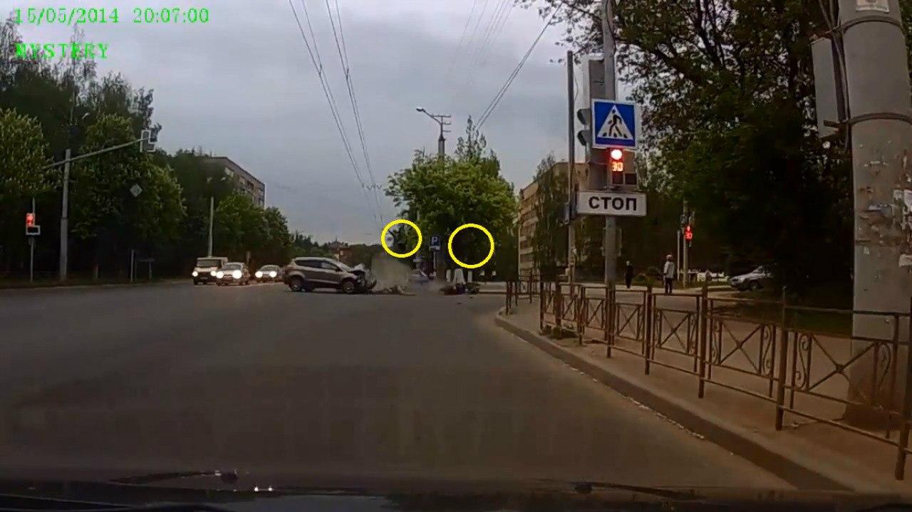Авария с мотоциклистом в Смоленске 15 05 2014