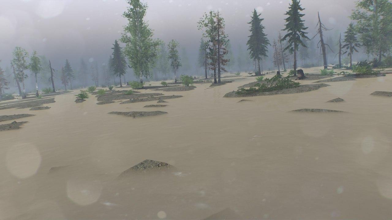"""Карта """"Swampy_map 1.1"""" для 25.12.15 для Spintires - Скриншот 3"""