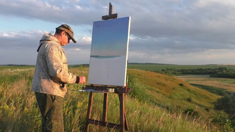Живопись на пленэре. Как рисовать с натуры, художник Ревякин Дмитрий.