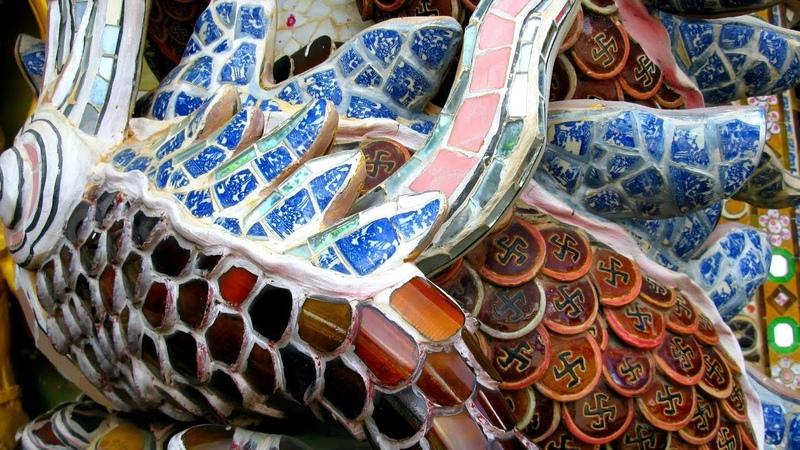 237 Вьетнам Пагода ЛИНЬ ФУОК храм ИЗ БУТЫЛОК ШЕДЕВР Vietnam Linh Phuoc Pagoda temple of the bottles