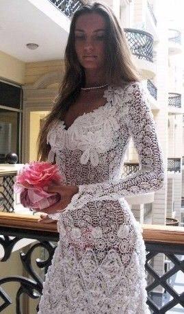 Вязаные свадебные платья!
