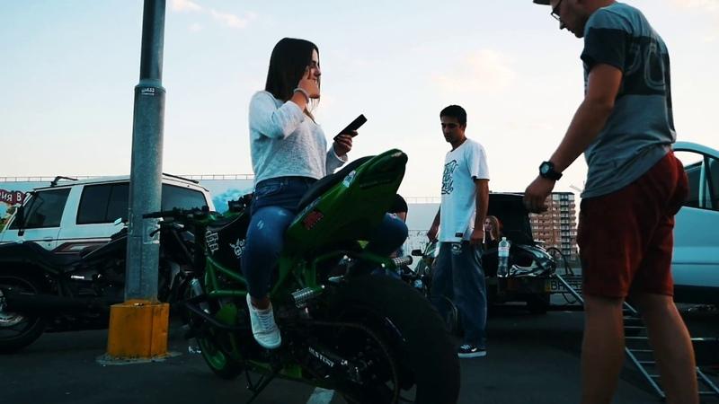 Nissan DRIFT vs Bike DRIFT. Stuntriders Odessa. МотоОдесса. Дрифт битва между машиной и мотоциклом.