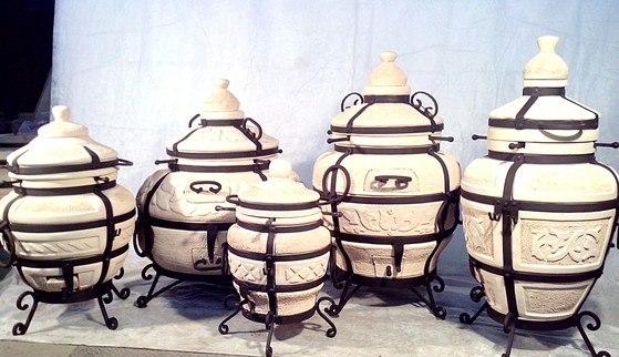 Посуда из шамотной глины