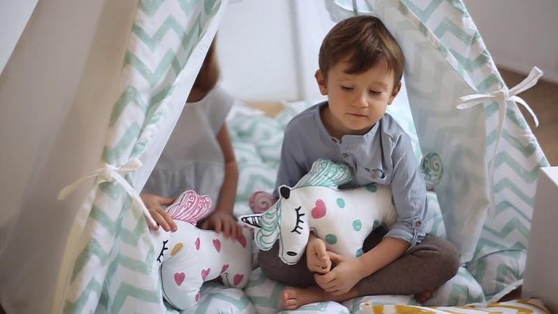 Детский вигвам Mint Zigzag от Wigwamdomik.ru