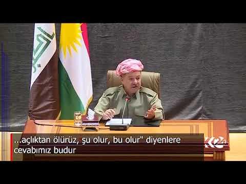 Kürdistan Başkanı Mesud Barzani Halkım ve bu dava için başımı vermeye hazırım