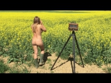 Shooting in the fields with Olga Kobzar