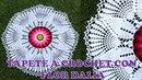 Tapete o carpeta a crochet de hojas con FLOR DALIA paso a paso en video tutorial