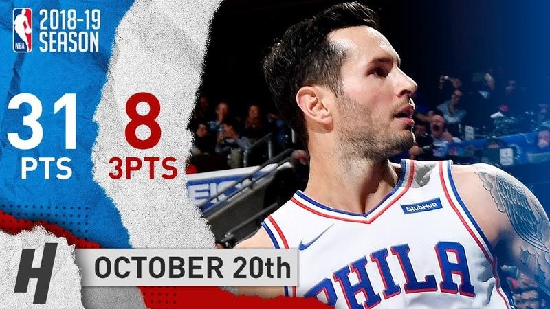 JJ Redick Full Highlights 76ers vs Magic 2018.10.20 - 31 Pts, 8 Threes, CLUTCH!