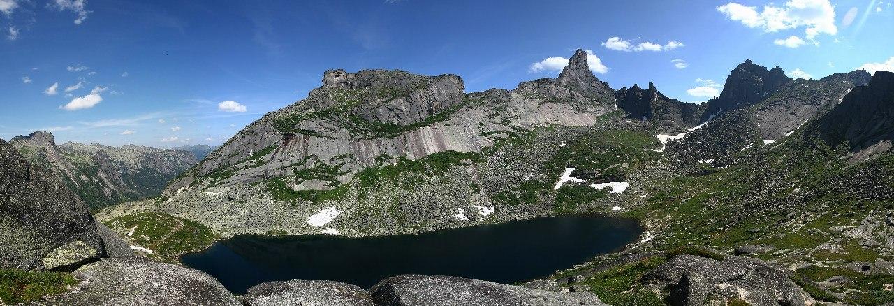 Панорама Озеро Горных духов. Фото: Константин Бураков