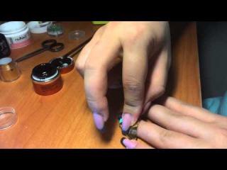 Жидкие камни, дизайн нарощенных ногтей