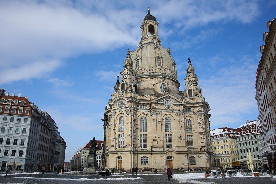 Дрезден вид сверху Dresden