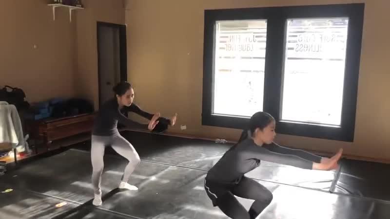 Satoko Miyahara and Rika Kihira Try New Choreography with Tom Dickson