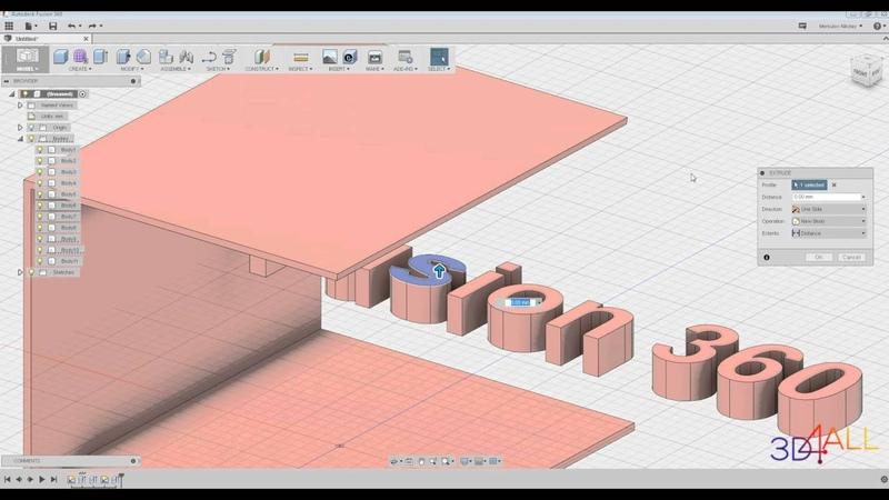 Урок 4. Autodesk Fusion 360. ВКЛАДКА CREATE [Инструменты - EXTRUDE, REVOLVE, SWEEP].