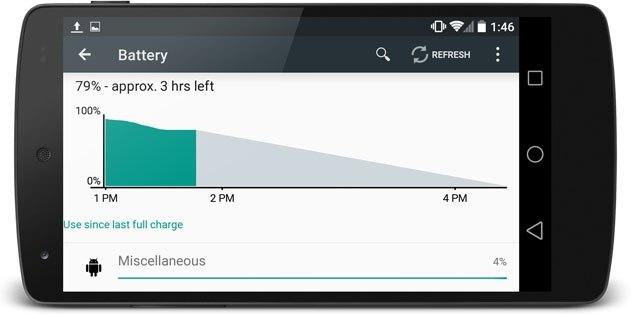 Android L, функция Project Volta