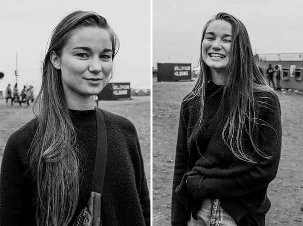 Снимки людей до и после того, как фотограф поцеловала их.