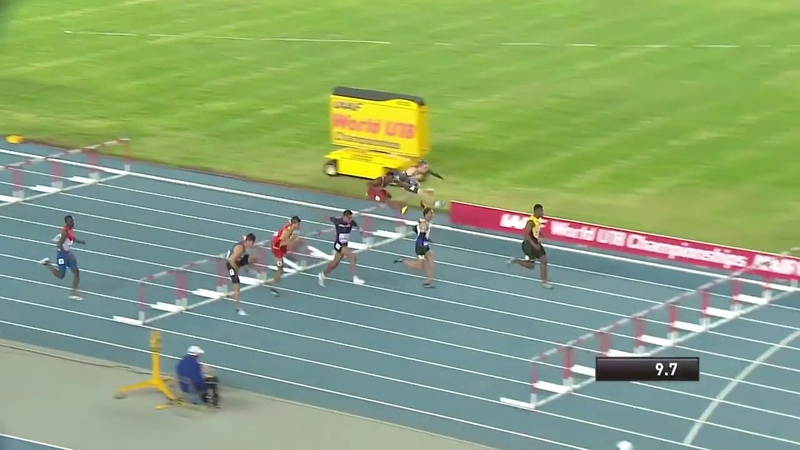 De'Jour Russell won 110m hurdles final boys' from the IAAF World U18 Championships Nairobi 2017