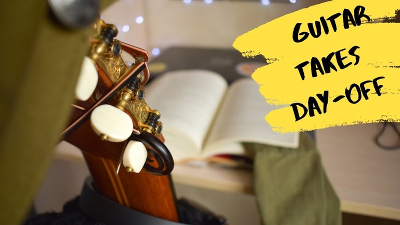 Guitar takes a day off! Funny video