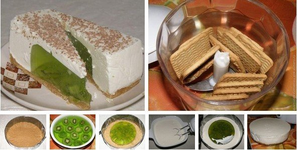 Торт из киви без выпечки