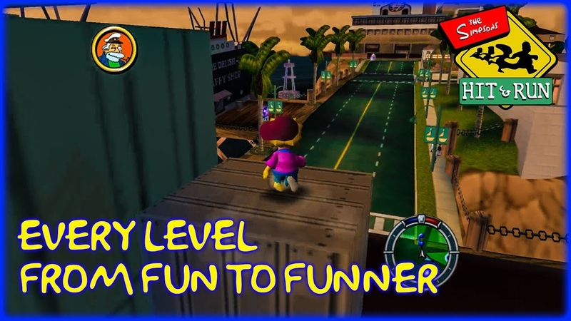 Simpsons Hit Run Levels From Worst to Best (Fun to Funner)