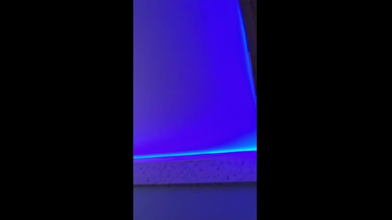 Полупрозрачный потолок с RGB подсветкой от компании Новый уровень ЛНР