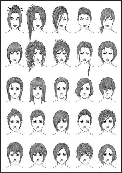 Схемы рисования людей, аниме и
