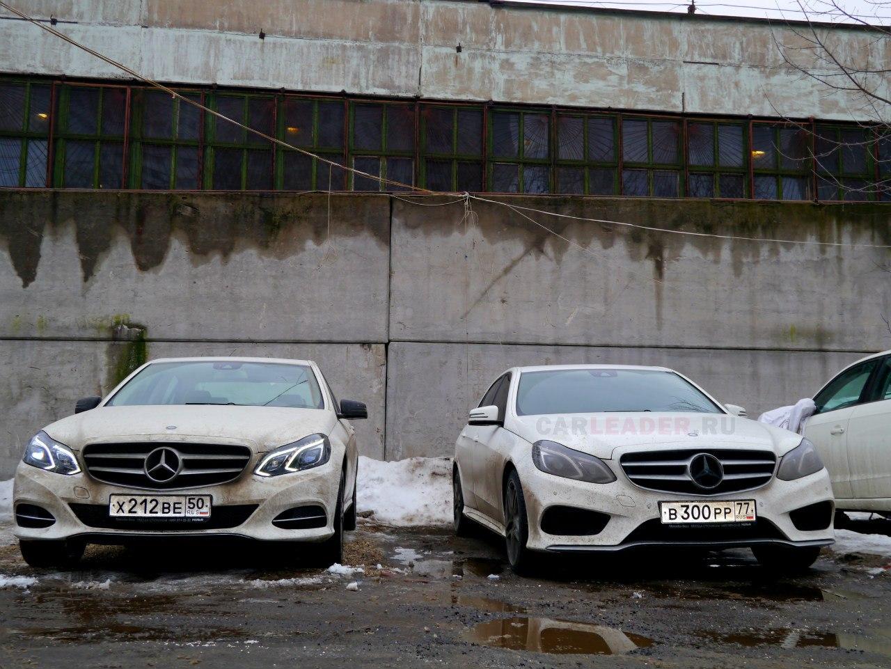 Слева - стоковая версия Mercedes-Benz E 2014, справа - AMG.