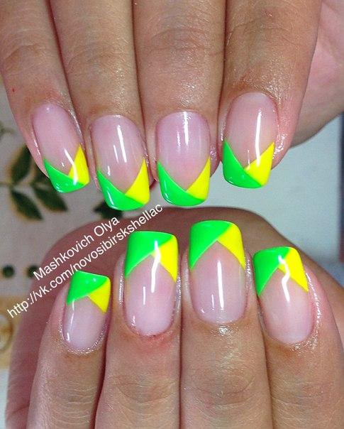 Гель лак цветной ногти