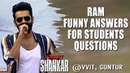 Ram Funny Answers for Students Questions @ VVIT, Guntur | Puri Jagan | Nidhhi Agerwal | Nabha Natesh