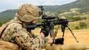 US Marines in Heavy Combat Action Training Assault Range Live Fire Action
