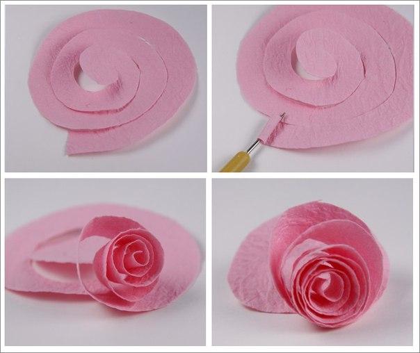 Спиральные розы