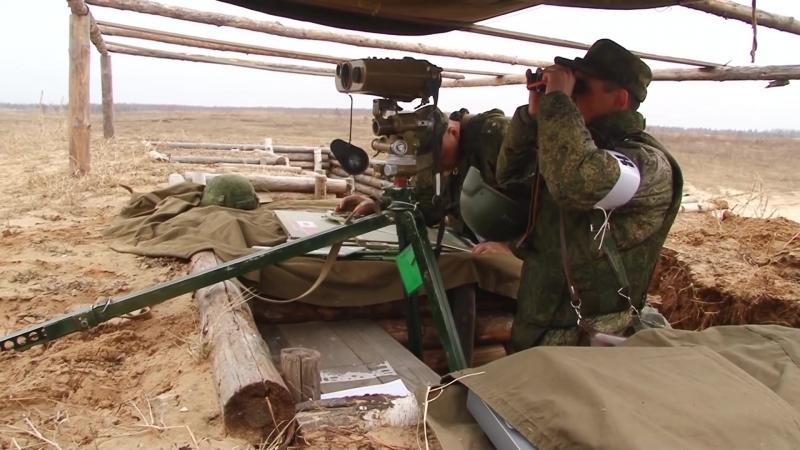 Боевое слаживание мотострелковых подразделений ЗВО на полигоне Мулино