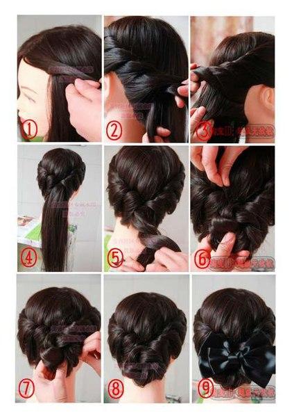 Пошаговые прически своими руками на длинные волосы фото пошагово