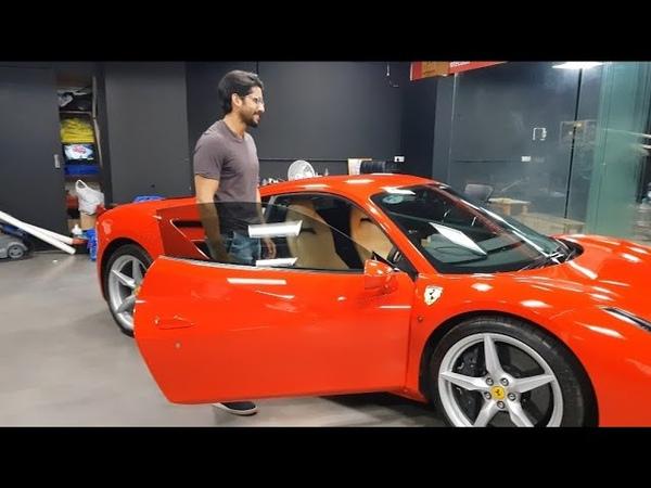 Actor Naga Chaitanya's Ferrari 488GTB/ Hyderabad / India