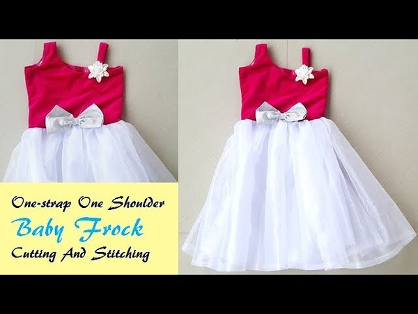 One- Strap One Shoulder Baby frock Cutting And Stitching by PNz World