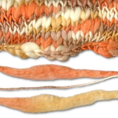 Вязание нитью разной толщины