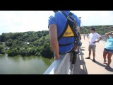 Rope jumping by Slobodian Maksim ( прыжки с моста ,Житомир) двойное сальто назад