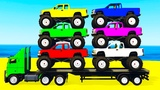 LEARN COLORS w Monster Truck &amp Learn Numbers for Kids w Cars Cartoon Learning Video