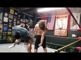 Jake Atlas with a Super kick in Slow motion - Pro Wrestling training